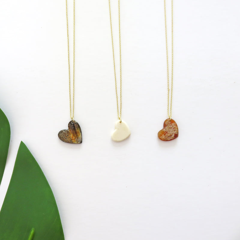 Horn + Bone | Heart Necklace