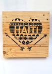 Haiti Heart Pallet Decor