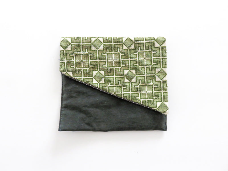 Refugee Made Purse - Green Tile