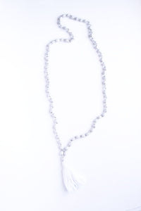 Job's Tears Tassel Necklace
