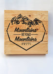 Mountains Beyond Mountains Pallet Decor