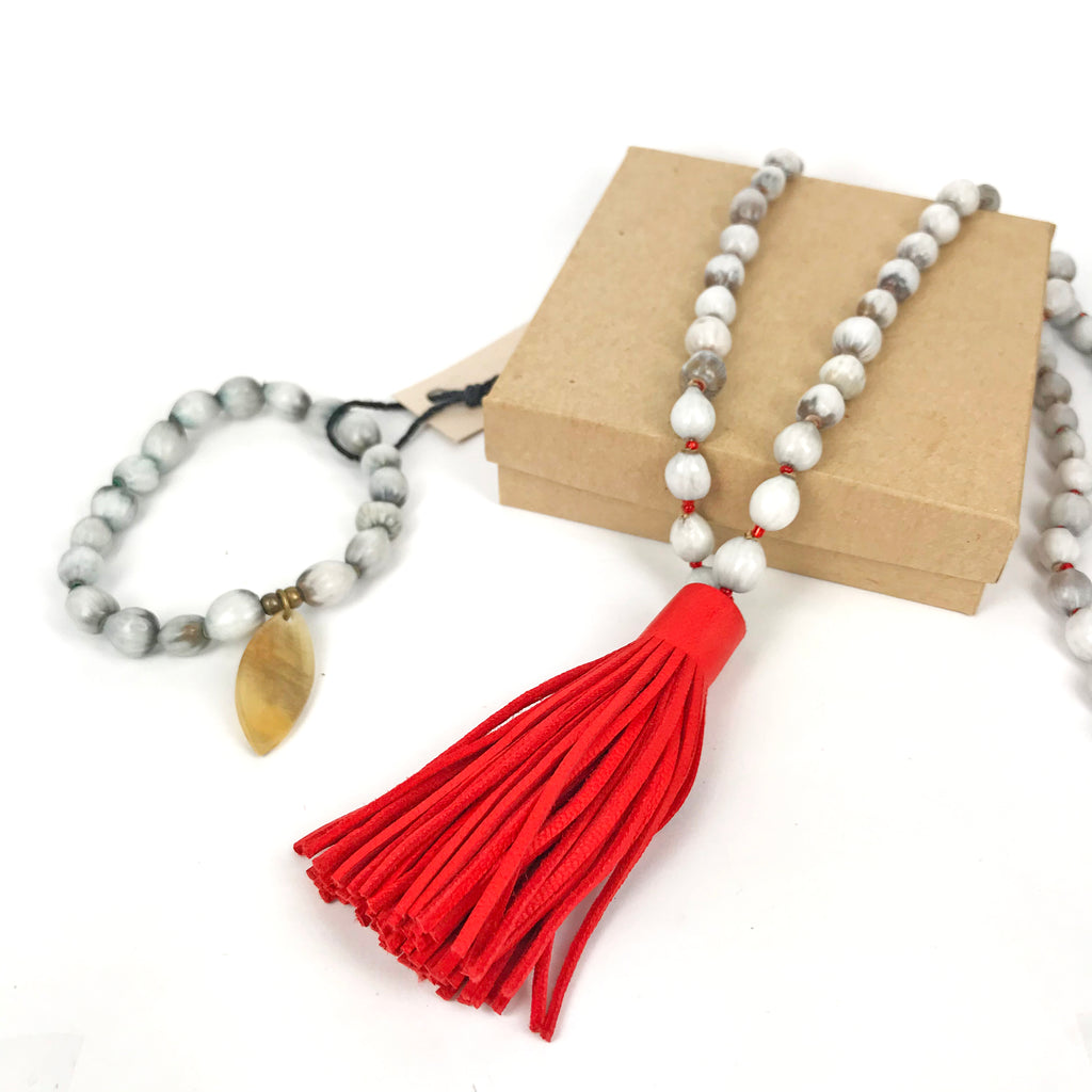 Job's Tears | Red Tassel Set