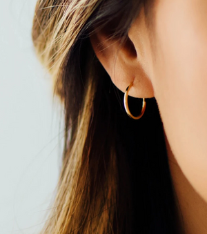 Tiny Endless Hoops Earrings