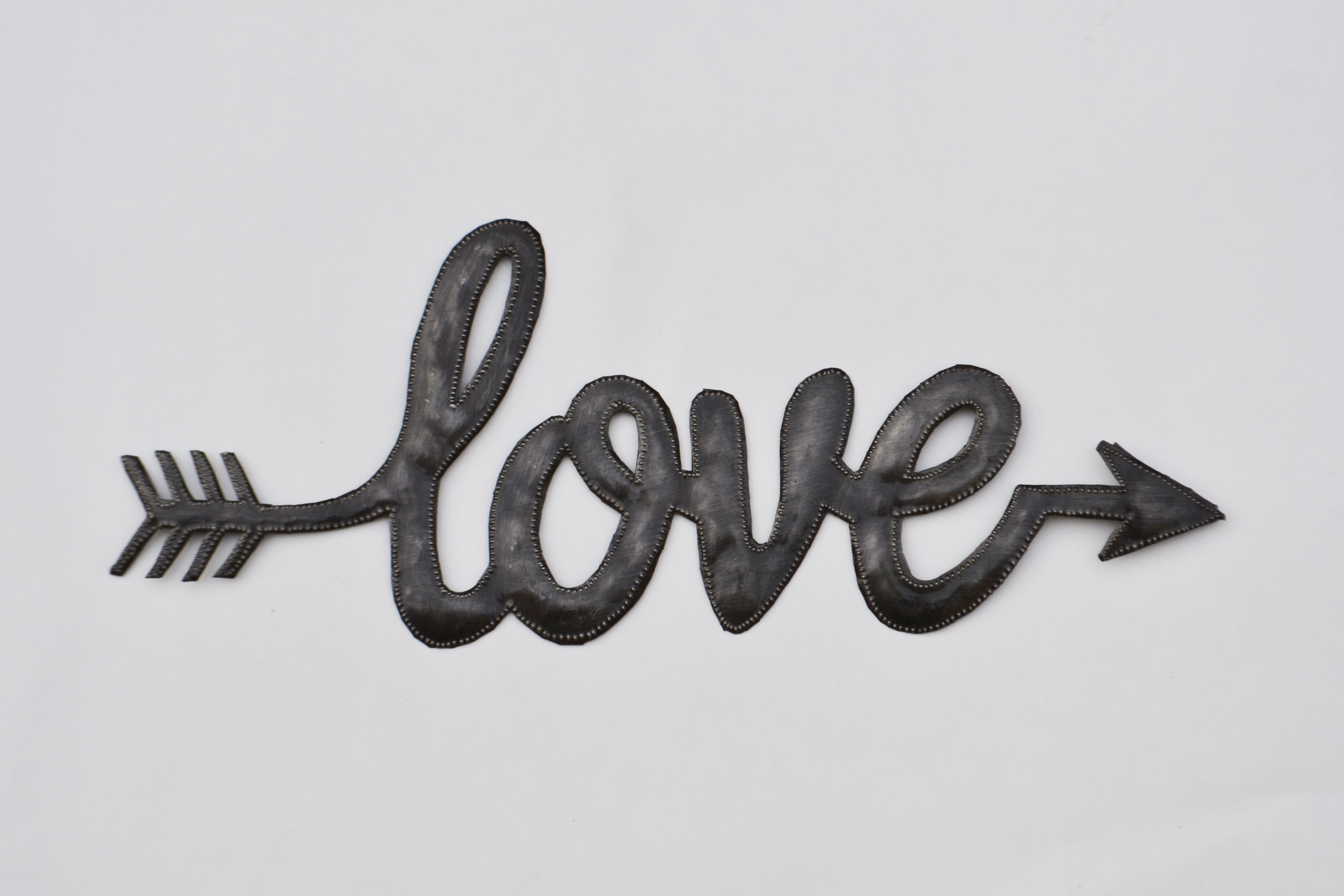 Love Arrow Metal Art