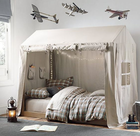 Camping tent bed ideas for toddler boy room ideas.