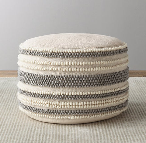 Kids shabby chic floor cushion and pouf for toddler room ideas.