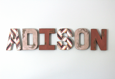Girls name ADISON letters