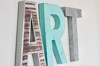 Art sign for creatives and kids wall art spaces.