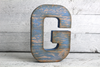 "Blue Letter G in a Reclaimed ""Wooden"" Letter"