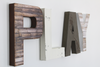 Playroom wall letters for farmhouse playroom wall decor.