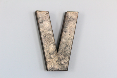 "Industrial ""metal"" V wall decor"