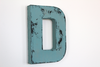 wooden blue distressed letter for nursery and wedding decor.