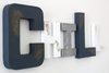 Chill sign for a cool kids room wall decor in navy and white letters.
