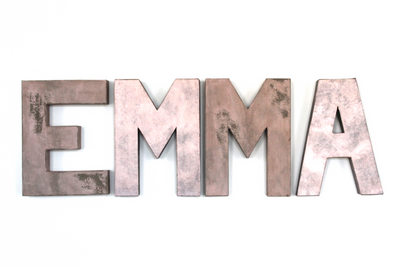 Pink Room Letters for EMMA Name