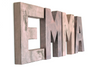 Pink Rose Gold Wall Letters for Name EMMA