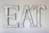 "Large Wall EAT letters in silver ""metal"""