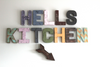 Custom Hell's Kitchen Wall Sign in Multi Colors with Arrow