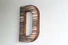 Large Farmhouse style wooden wall letter D