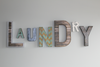LAUNDRY letter sign for home decor