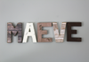 "Rustic ""wooden"" farmhouse MAEVE letters"
