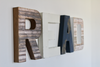 Read wall letters for playroom wall decor.