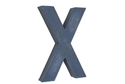 """Wooden"" distressed letter X"