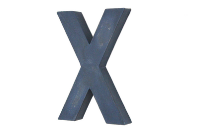 Wall Letter X in a navy blue color