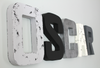 Black and Silver  Modern Nursery Name Decor