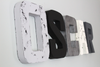 gray, black, and metal silver nursery name letters.