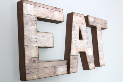 EAT Farmhouse Style Letters On Wall