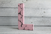 Shabby chic pink distressed letter L