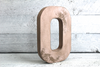 Pink farmhouse letter o