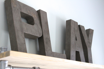 "PLAY ""wooden"" letters for playroom"