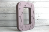 "Shabby Chic purple ""wooden"" letter O"