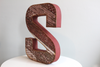 "Reclaimed ""wooden"" letter S"