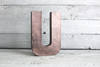 "Rose gold ""metal"" pink letter"