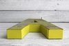 "Yellow letter ""A"" in a reclaimed ""wood"" for room decor letters"