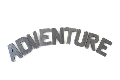 Kids playroom adventure wall sign.