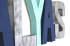 Alyas nursery wall letters in gender neutral colors like blues and gray.