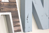 Custom wall letters A and N for boys wall decor.