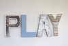 Play wall letters for kid's playroom wall decor.