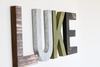 Custom wall letters spelling out Luke.