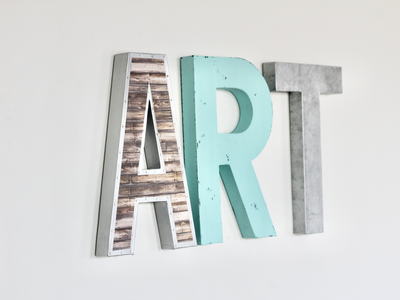Art sign for kids wall art.