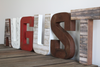 """Wooden"" rustic boy letter name AUGUST in a rustic ""wood"" look"