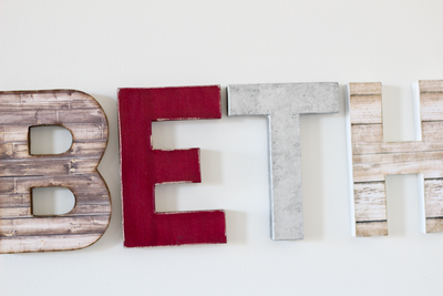 Beth name wall letters for girls woodland nursery wall decor.