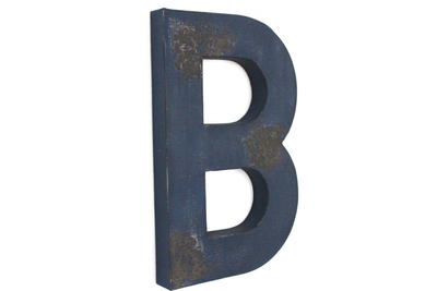 "Large ""wooden"" navy letter B."