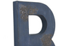 "Large navy rustic ""wooden"" letter."