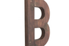 "Large brown ""wooden"" letter."