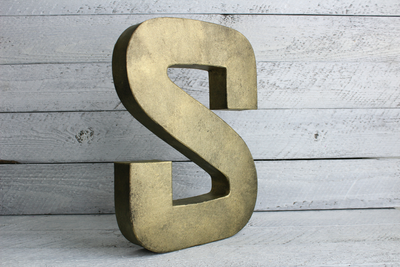 brass industrial metal letter S