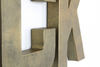 Vintage brass nursery letters for baby nursery wall decor.